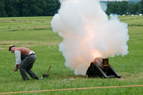 KABOOM! An 8 inch mortar is fired at the Gettysburg Reenactment.