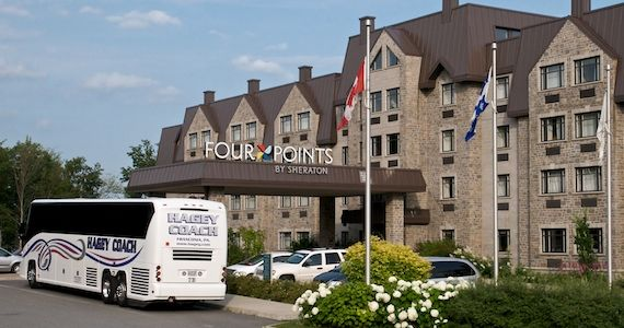 Four Points by Sheraton, Charlesbourg, Quebec -- a very bus-friendly hotel.