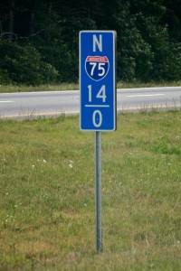 Interstate Mile Marker